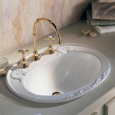 c10ecb61675 Built-in washbasin   oval   ceramic   traditional - 0406