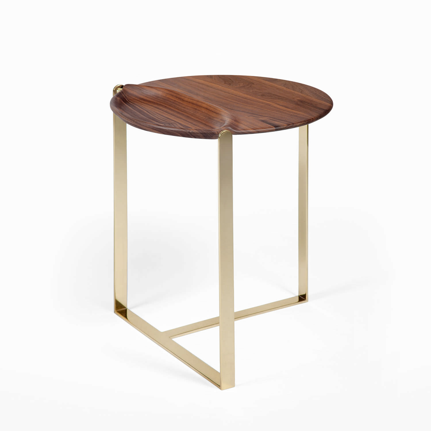 Perfect ... Contemporary Side Table / Walnut / Bronze / Round CRAVER CASTE