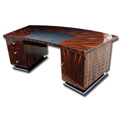 wooden desk art deco d009 cygal art deco gmbh co kg rh archiexpo com art deco desk tidy art deco desktop calendar