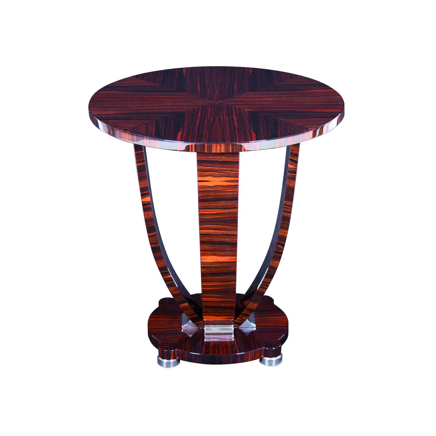 Art Deco Side Table / Wooden / Round   BS071