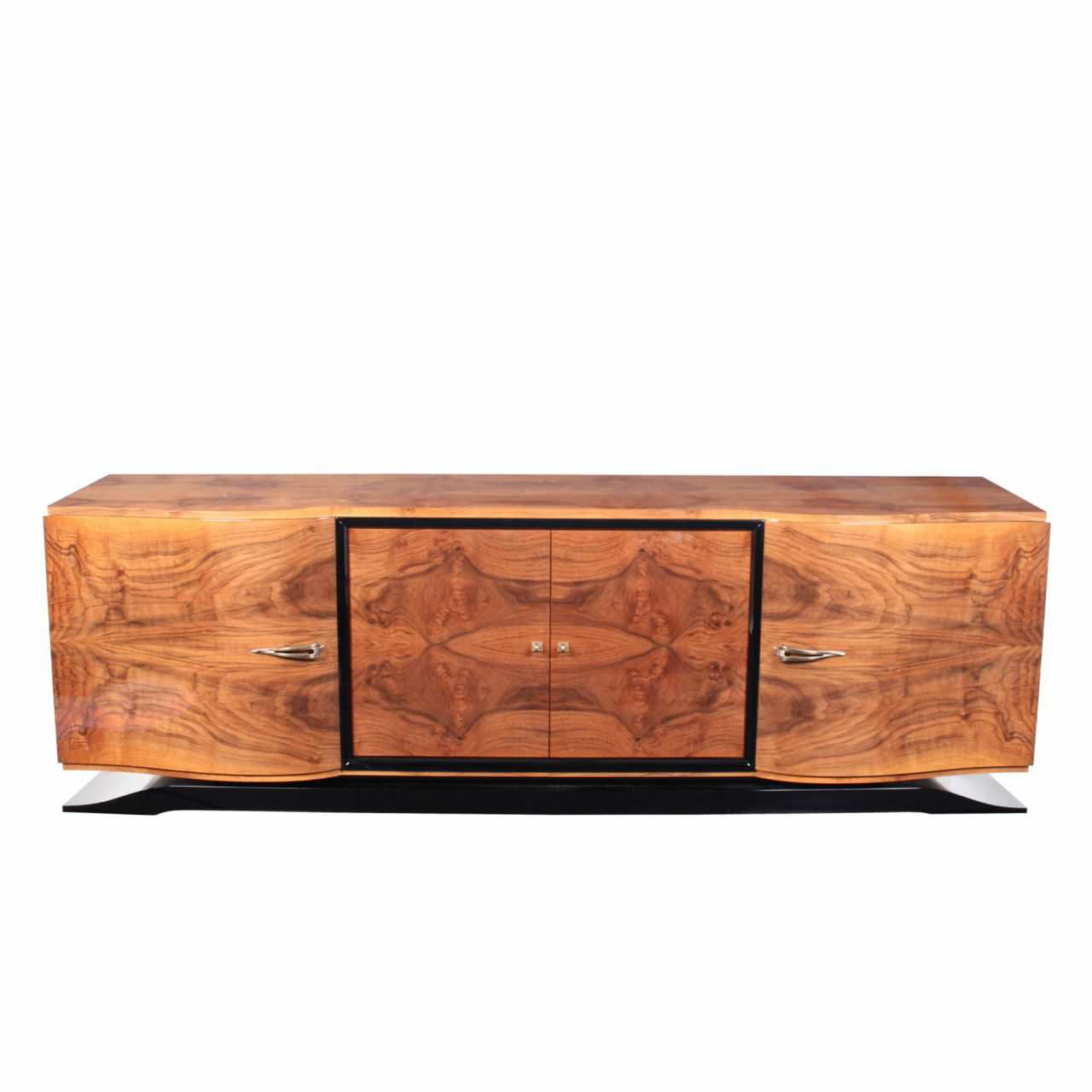 art deco sideboard rosewood glossy lacquered wood sb001 cygal art deco gmbh co art deco office credenza