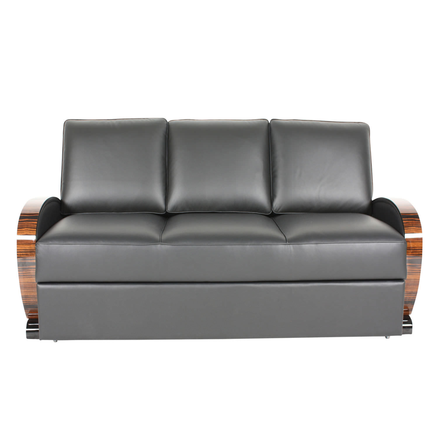 Sofa bed / Art Deco / leather / fabric - SF046 - Cygal Art Deco ...