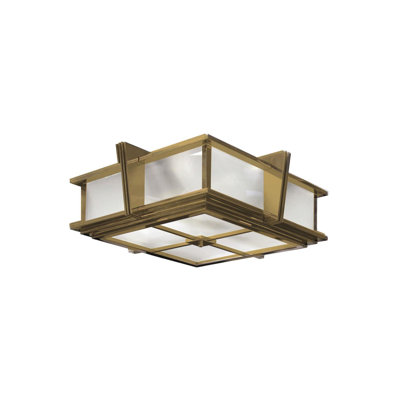 Art Deco ceiling light / square / glass / brass - L002 - SKY II ...