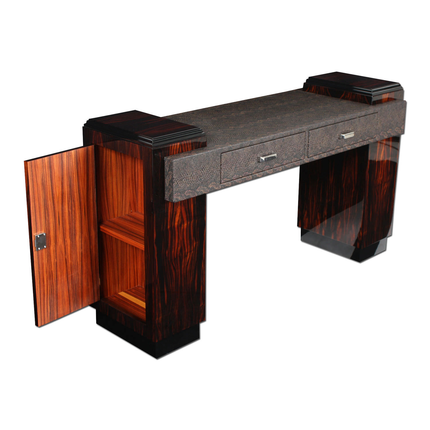 Macassar Ebony Desk Art Deco D023