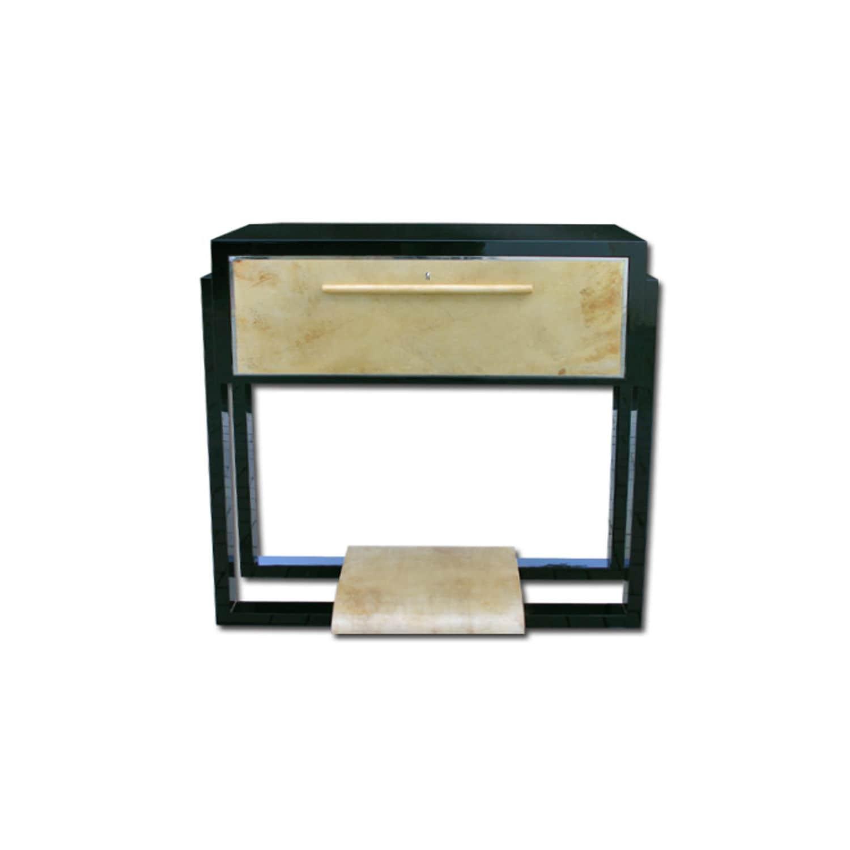 Art Deco Bar Cabinet / Parchment   B015
