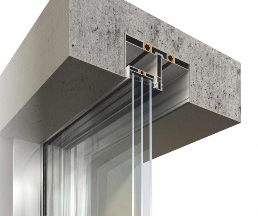 Sliding patio door aluminum tripleglazed FLUO Aldena