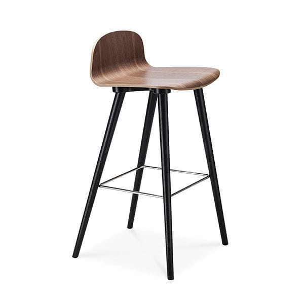 Scandinavian Design Bar Stool / Oak / Beech / Walnut   BOSTON By Erik  Jørgensen