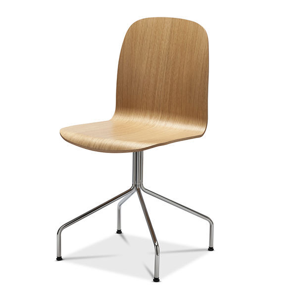 ... Scandinavian Design Visitor Chair / Upholstered / Stackable /  FSC Certified