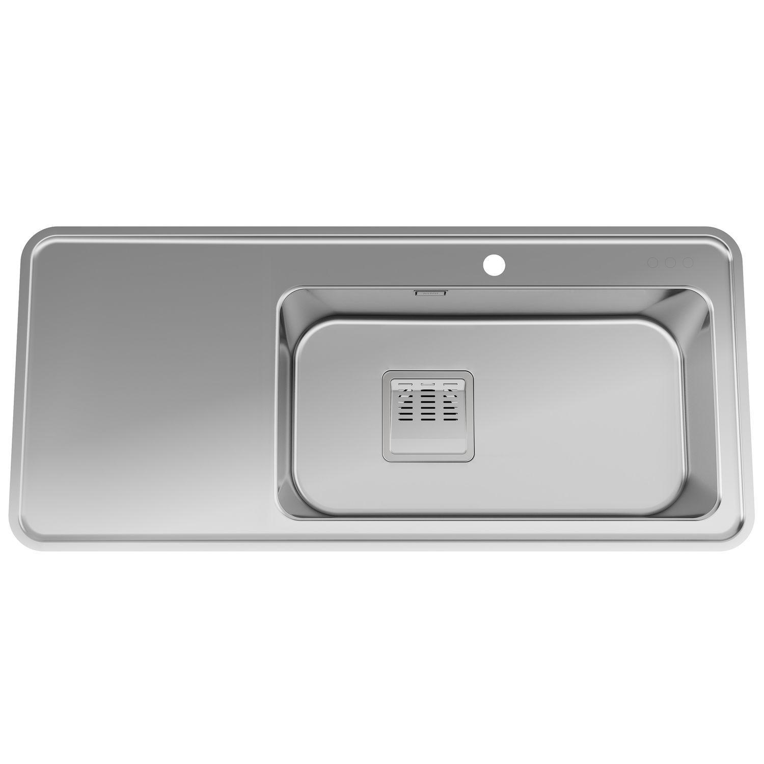 single bowl kitchen sink stainless steel with drainboard