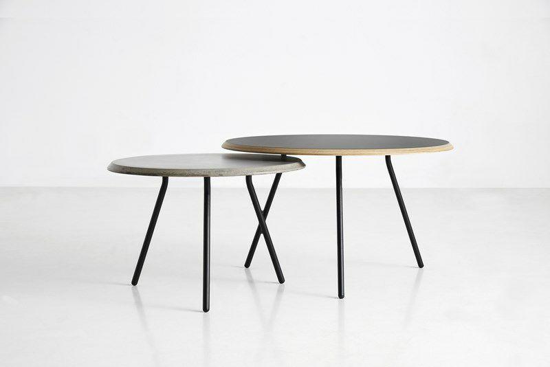 ... Scandinavian Design Coffee Table / Metal / Concrete / Plywood
