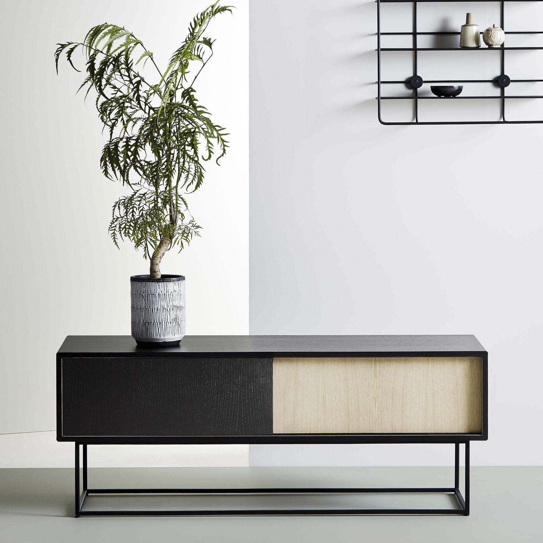 Scandinavian Design Sideboard / Oak / Painted Wood / Metal   VIRKA By Røpke  Design U0026 Mark Wedel