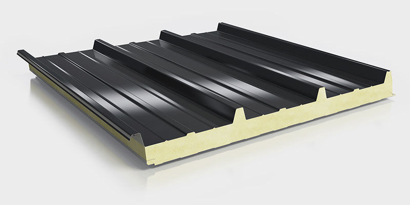 Polyurethane roofing panel insulating corrugated D Roma