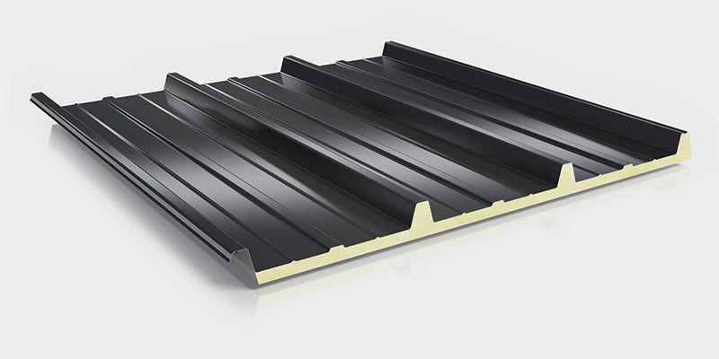 Metal Roofing Panel / Polyurethane / Insulating / Corrugated   TRAPEZ DUO  062