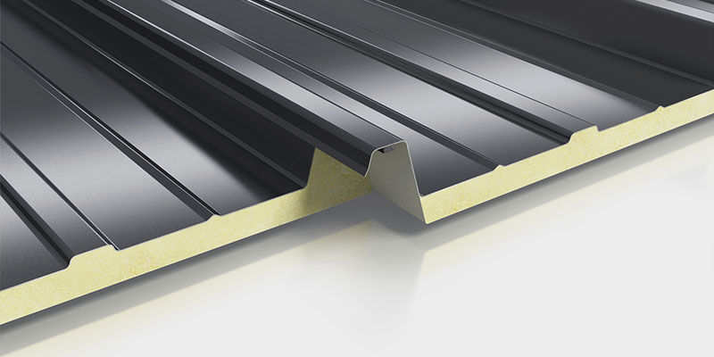 Metal Roofing Panel / Polyurethane / Insulating / Corrugated TRAPEZ DUO 062  Roma Dämmsysteme