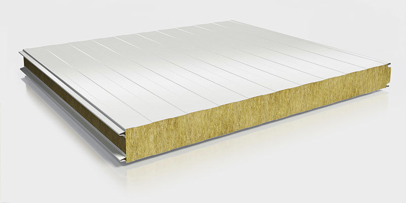 Wall sandwich panel / 2 faces in PVC / metal facing / insulating ...Wall sandwich panel / 2 faces in PVC / metal facing / insulating rock wool core - MW FP