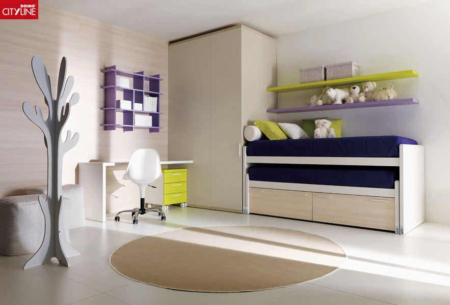 Pull-out bed / single / contemporary / with drawer - COMPOSIZIONE ...