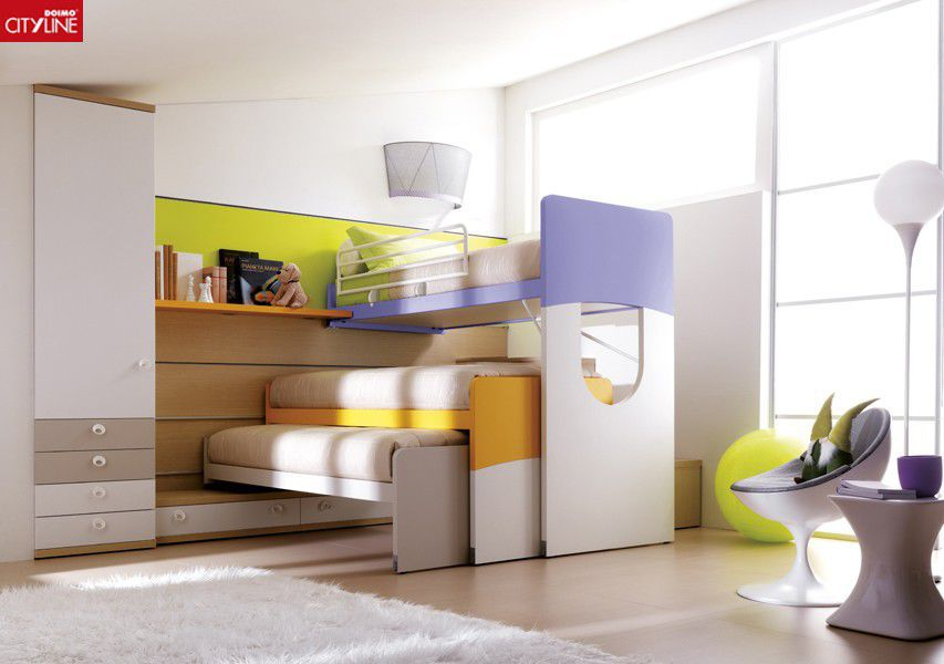 Pull-out bed / loft / single / contemporary - COMPOSIZIONE 405 ...