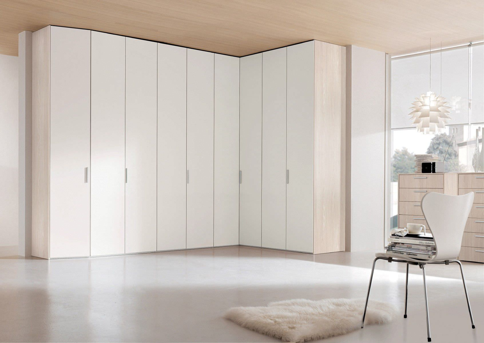 Corner wardrobe / wall-mounted / contemporary / wooden - LORD ...