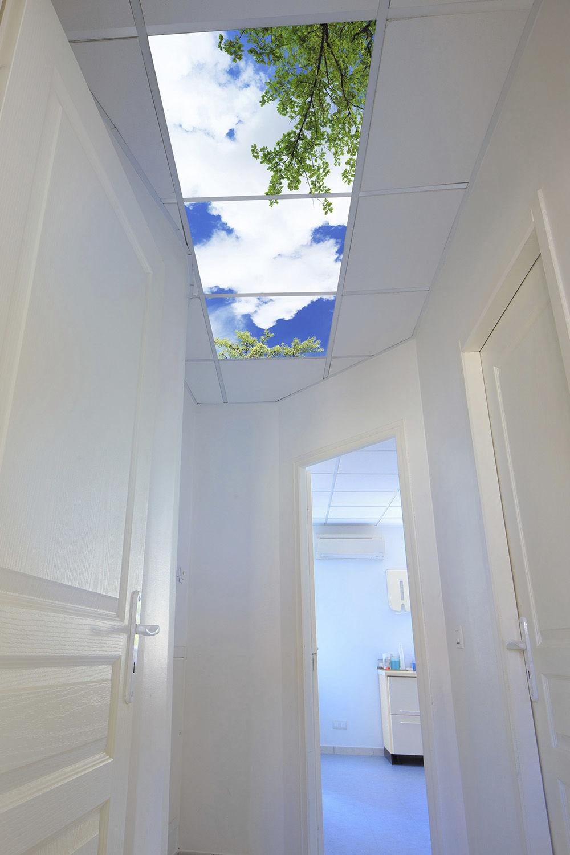 virtual window led panel / for backlit ceilings / for sky ceilings