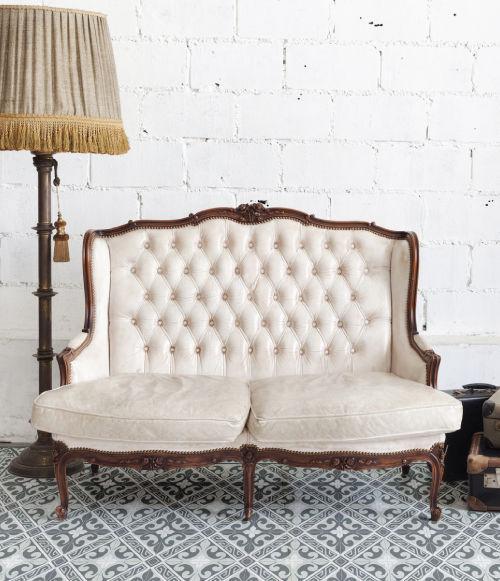 Contemporary rug / patterned / vinyl / rectangular - FLOR DE LIS- L2 ...