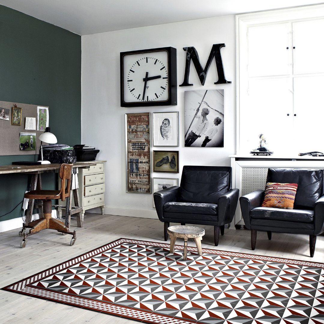 Contemporary rug / patterned / vinyl / rectangular - BAUHAUS - BA1 ...