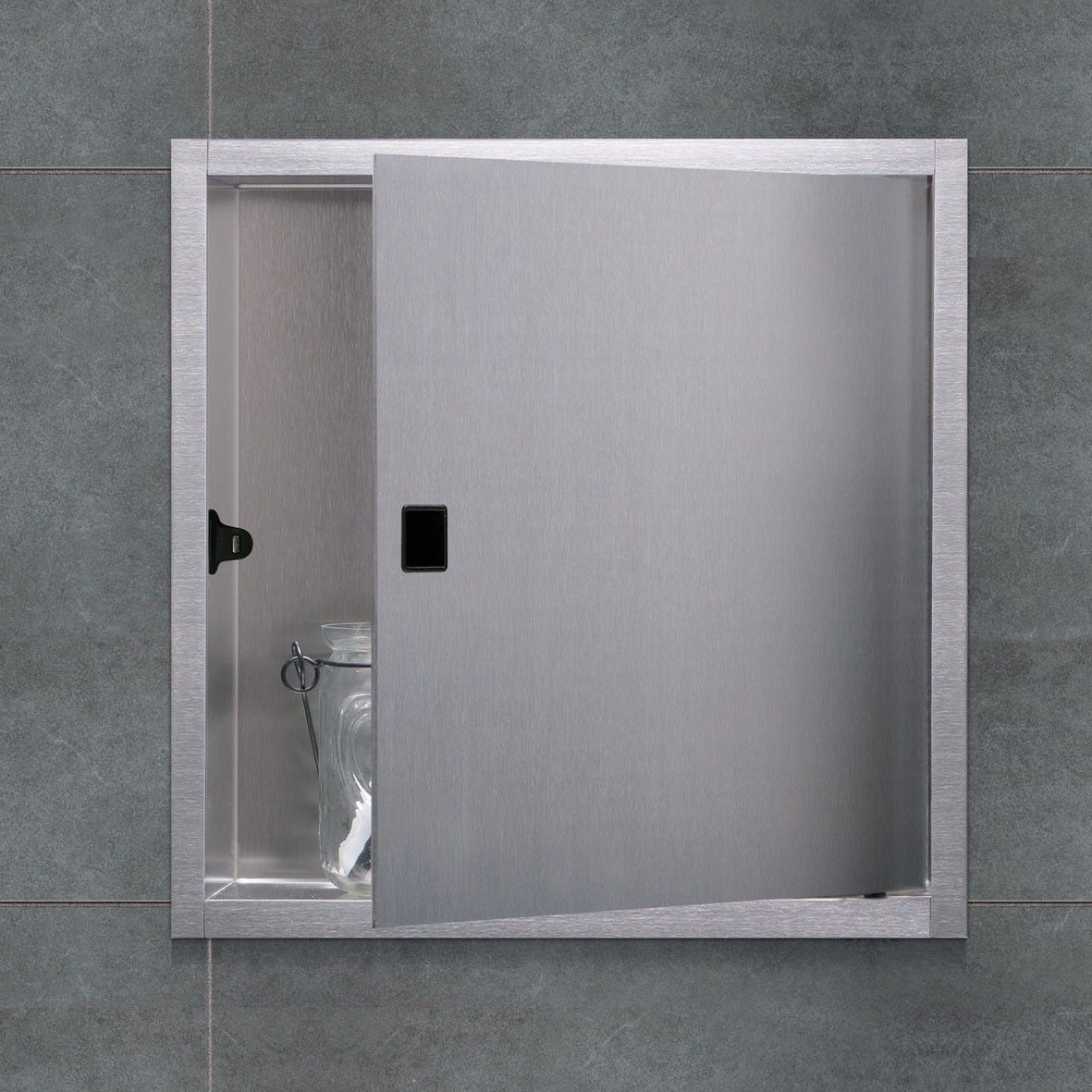 Contemporary Bathroom Cabinet Stainless Steel Wall Mounted