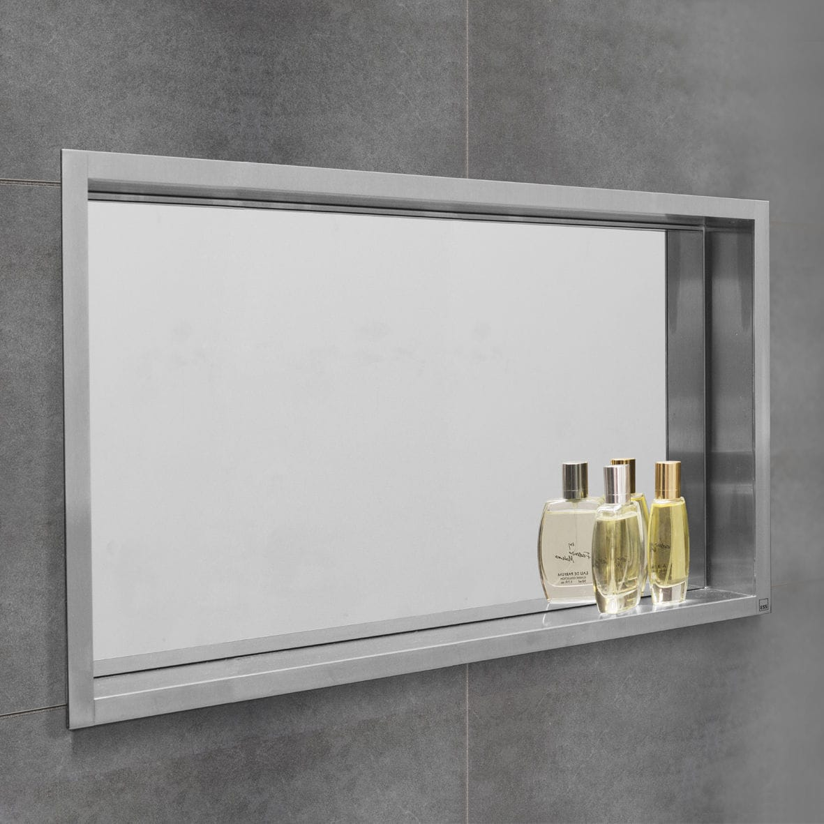 Mirrored Bathroom Wall Cabinet Ess Container Box Wall Niche With