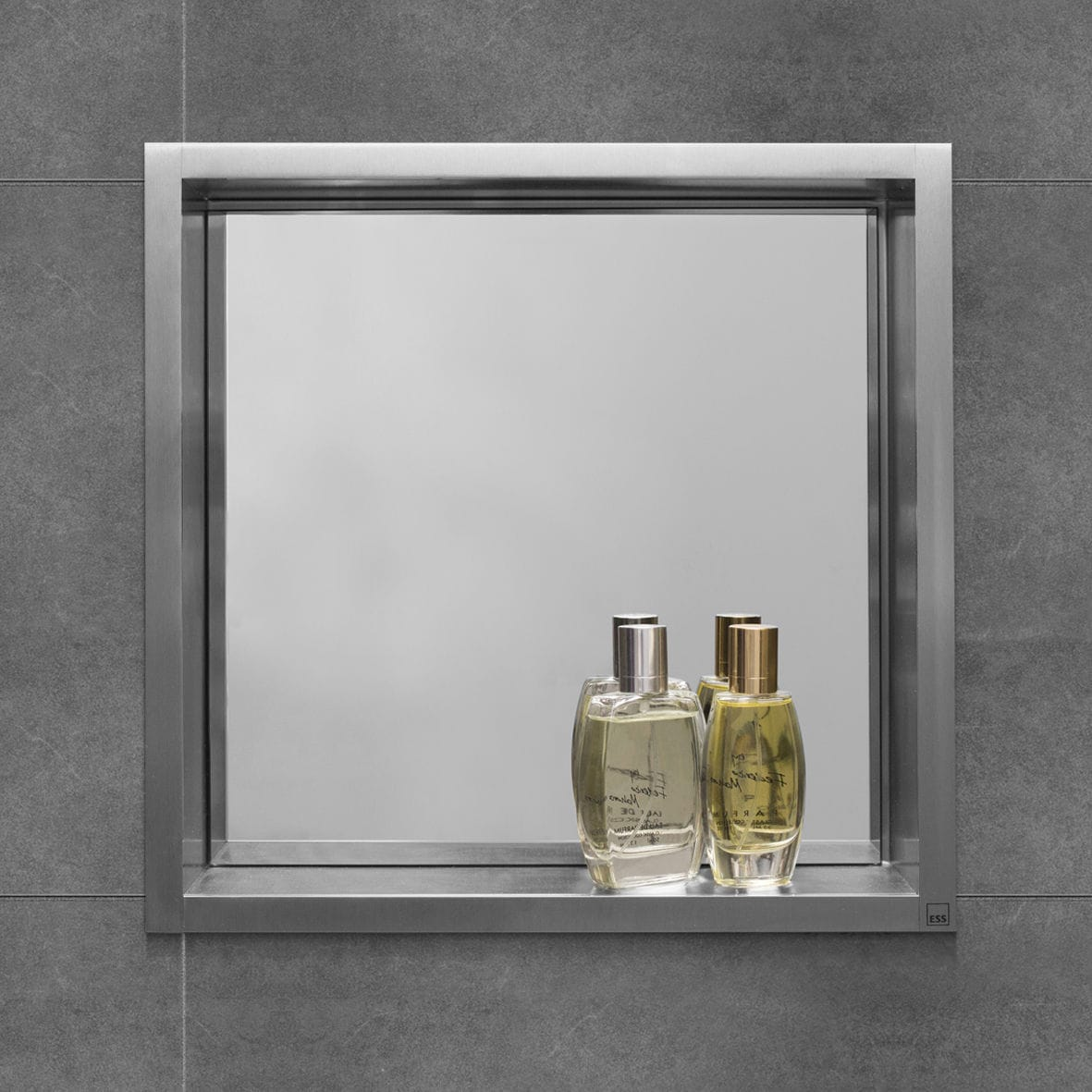 Bathroom wall cabinet with mirror - Mirrored Bathroom Wall Cabinet Ess Container Box Wall Niche With Mirror Easy Sanitary Solutions