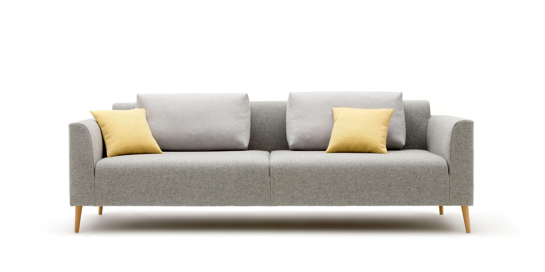 Modular Sofa Scandinavian Design Fabric 2 Person