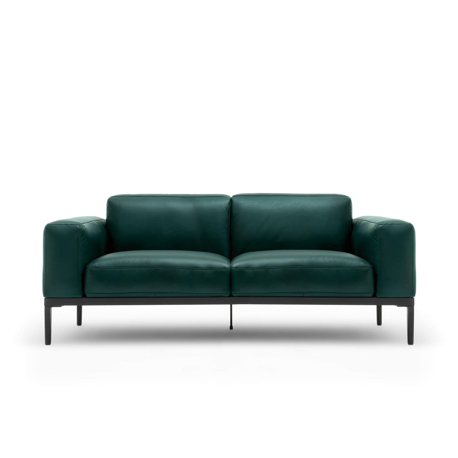 Modular sofa contemporary leather 2 seater 167 by Anders