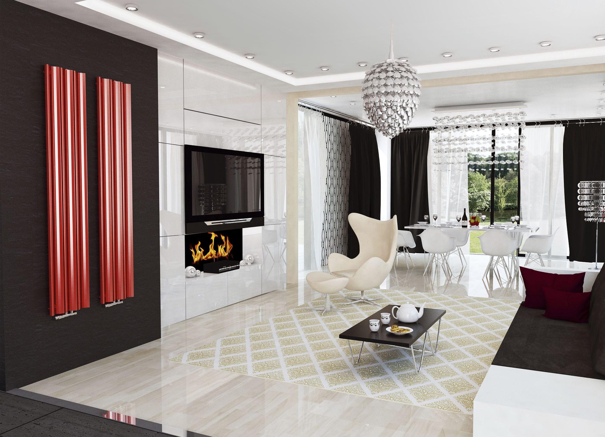 Mango Living Room Furniture Hot Water Radiator Metal Contemporary Vertical Mango Mg Enix