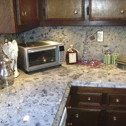Granite Countertop / Kitchen / Gray / Blue   ICE PEARL