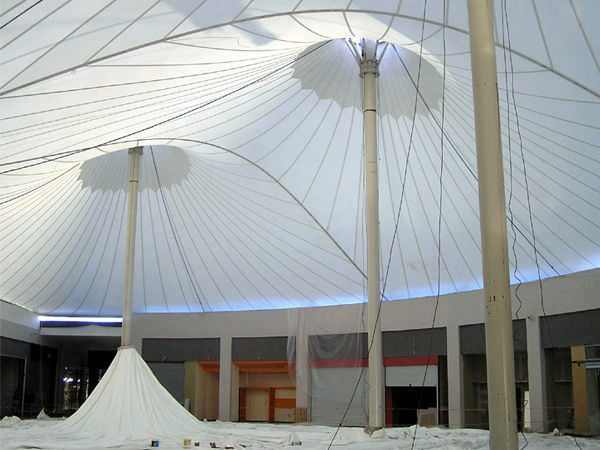 Cable And Membrane Tensile Structure / Roof / With PVC Membrane OLYMPIA MALL  Arka ...