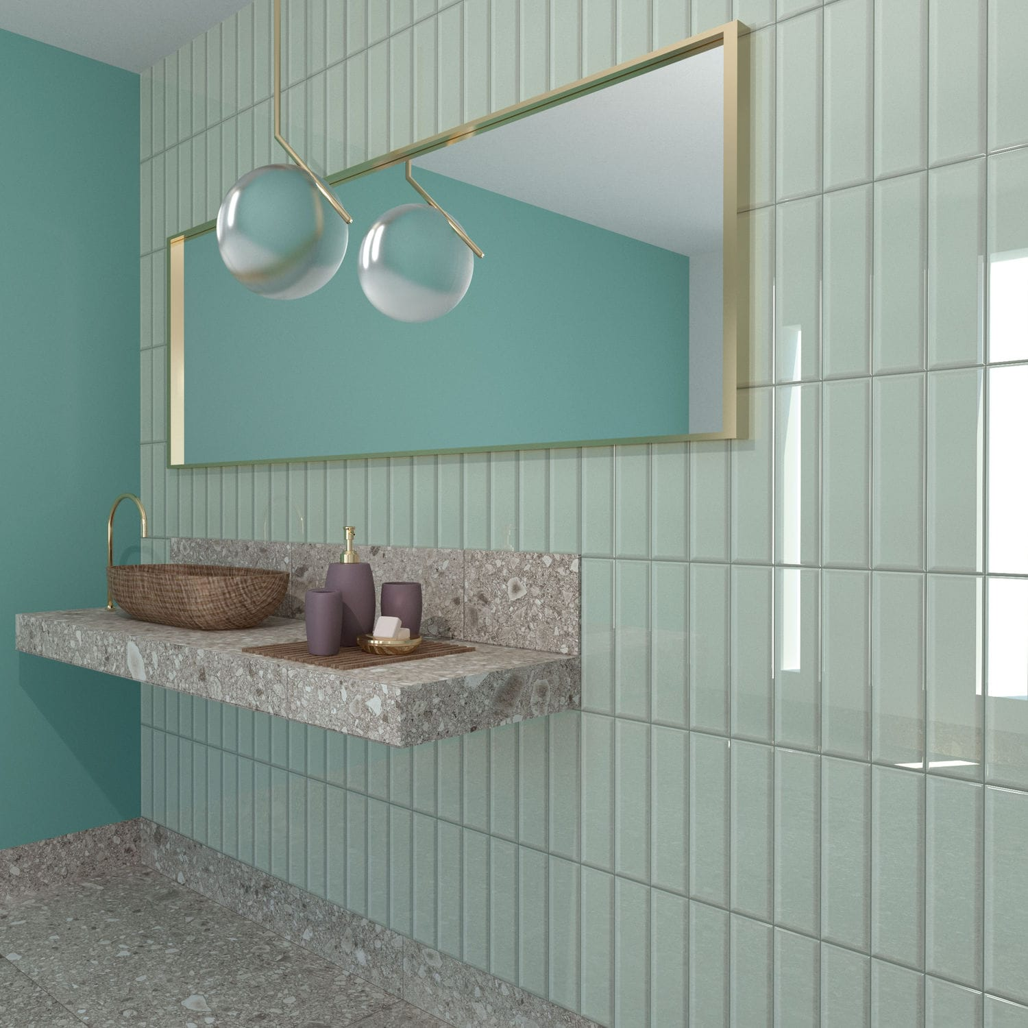 Indoor tile / wall / ceramic / rectangular - MANUFATTO - ORNAMENTA