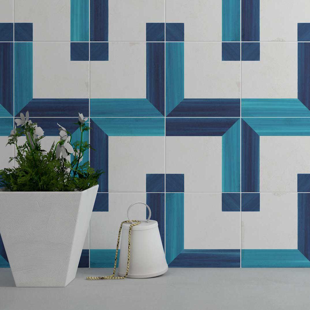 Indoor tile / wall / ceramic / geometric pattern - Square Wall Decor ...