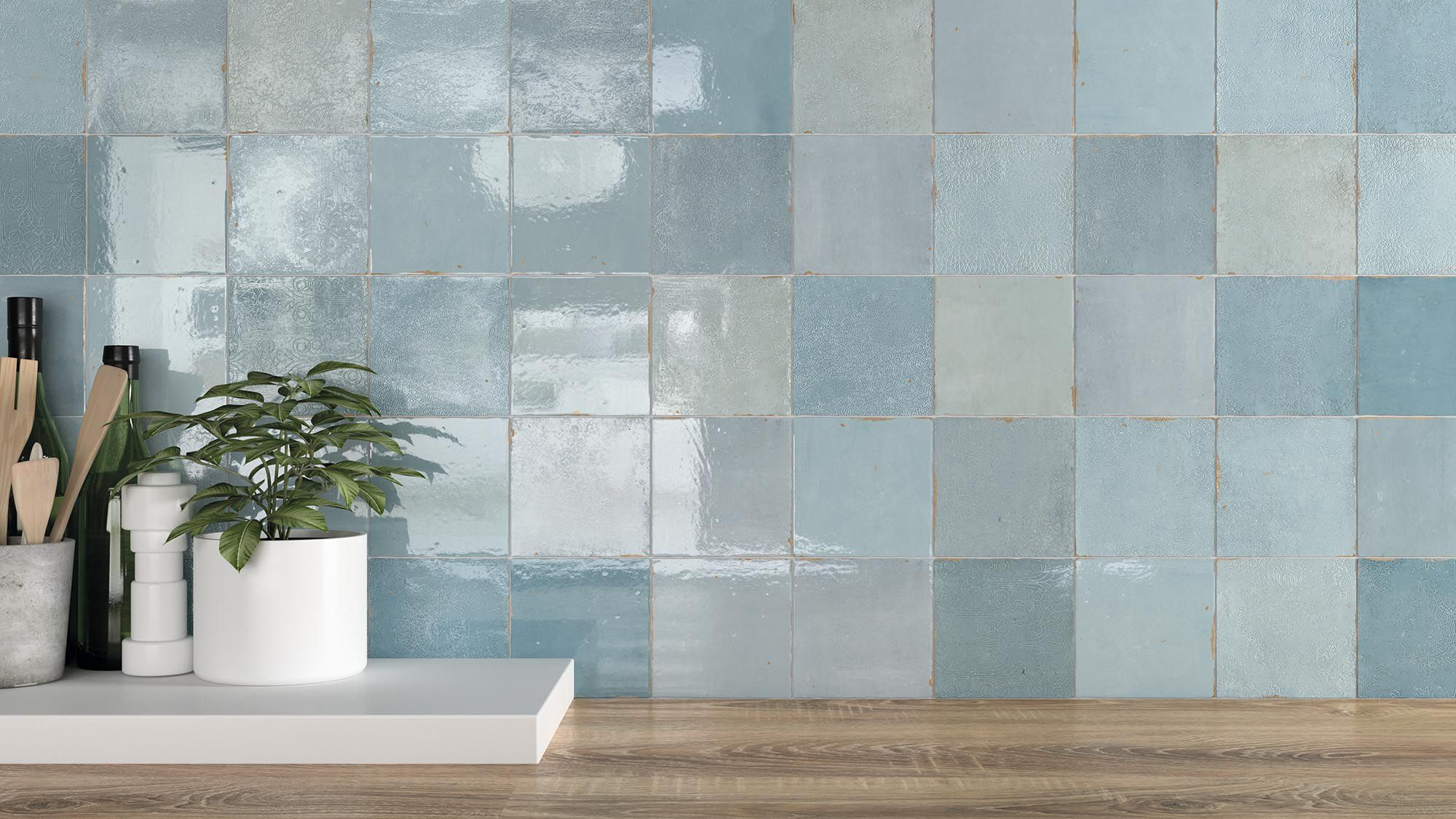 Indoor tile / wall / ceramic / patterned - ZELLIGE DECOR - WOW Design EU