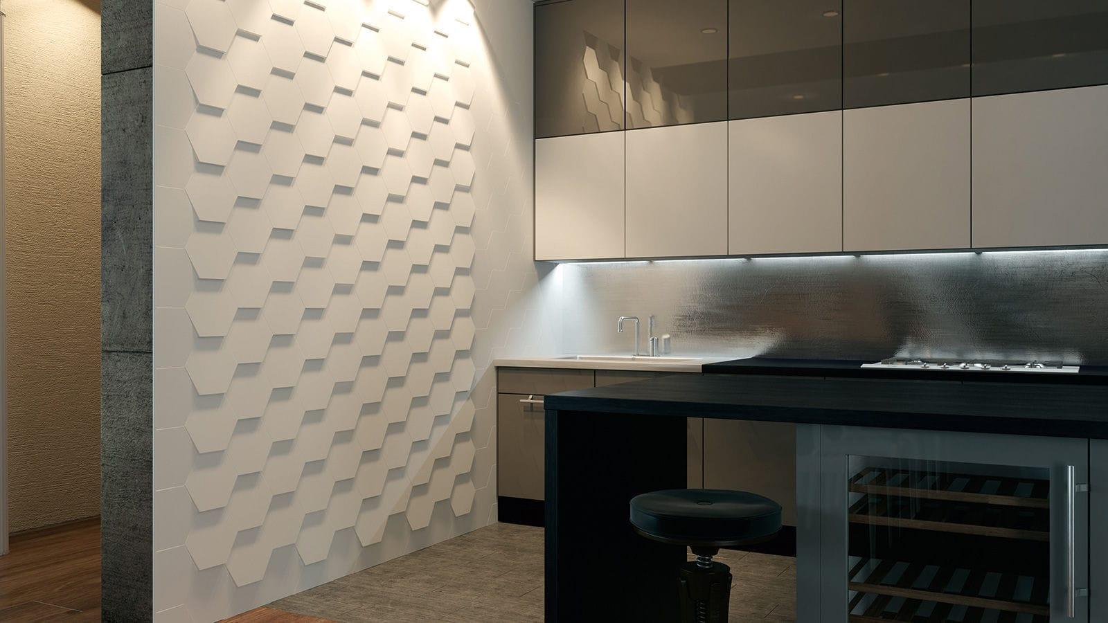 ... Bathroom Tile / Wall / Ceramic / Textured HEXA WOW Design EU ...