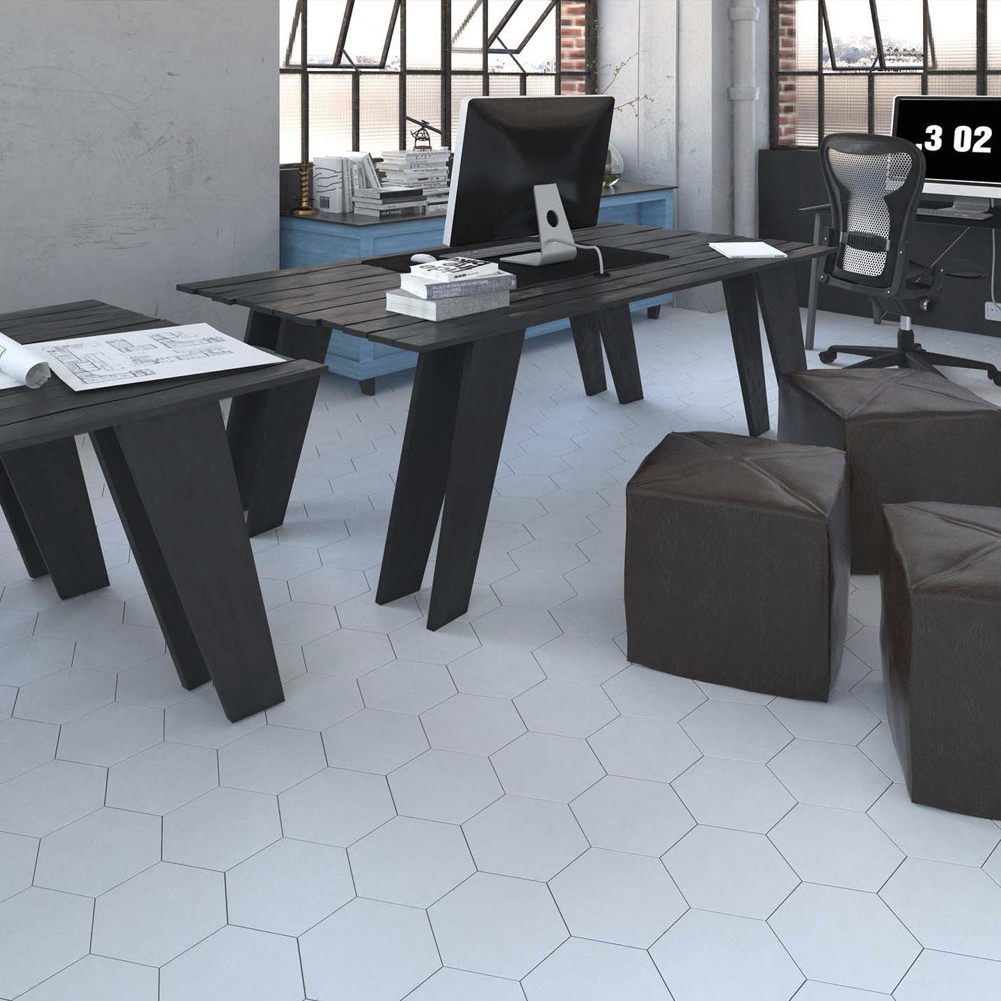 Indoor tile / floor / ceramic / plain - HEXA FLOOR - WOW Design EU
