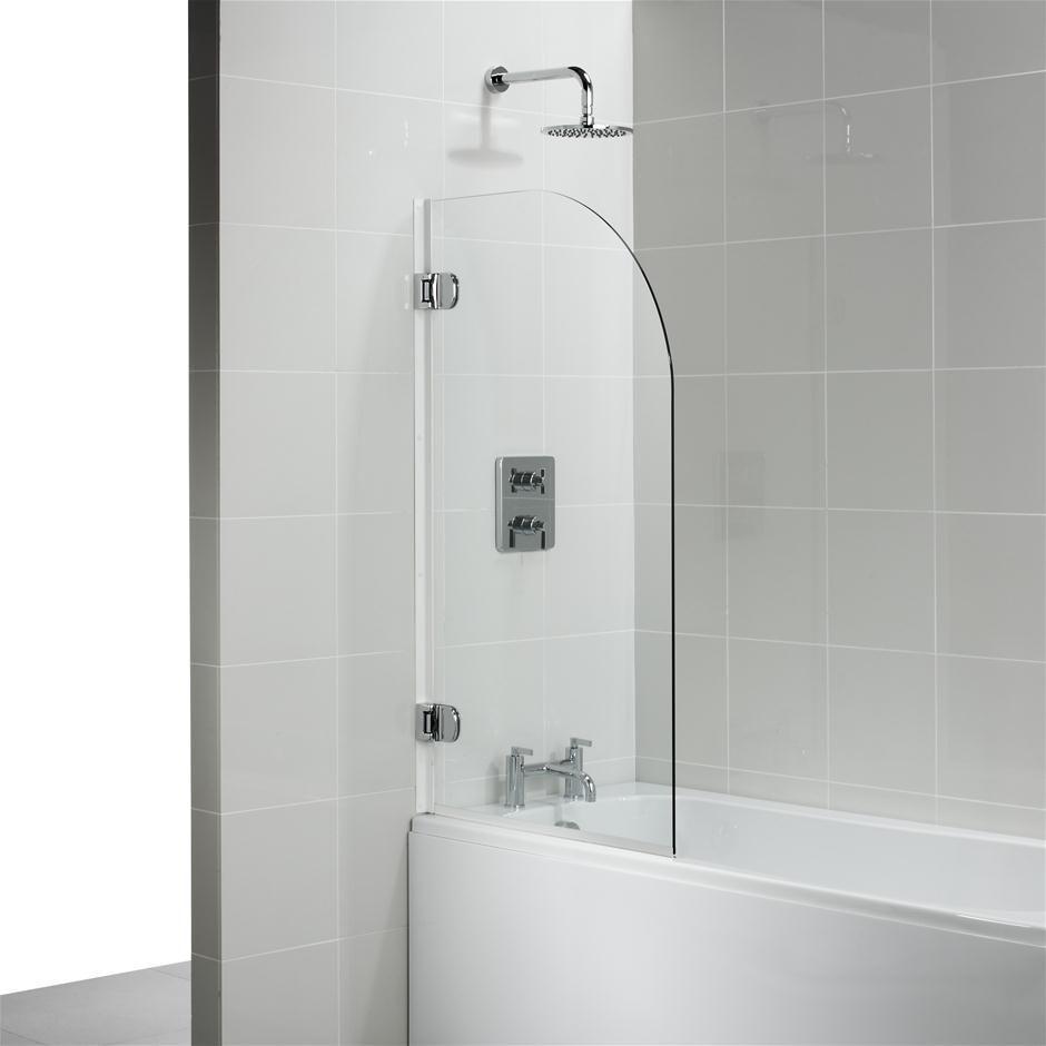 Fixed bath screen - AIR - Usluga Glass