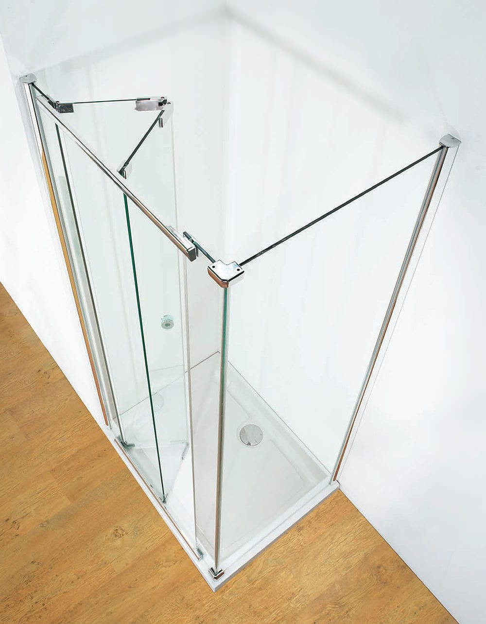 Glass Shower Cubicle Rectangular With Folding Door Butterfly