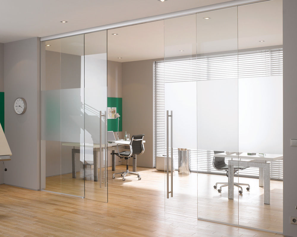 Sliding Partition / Glazed / For Offices / Professional