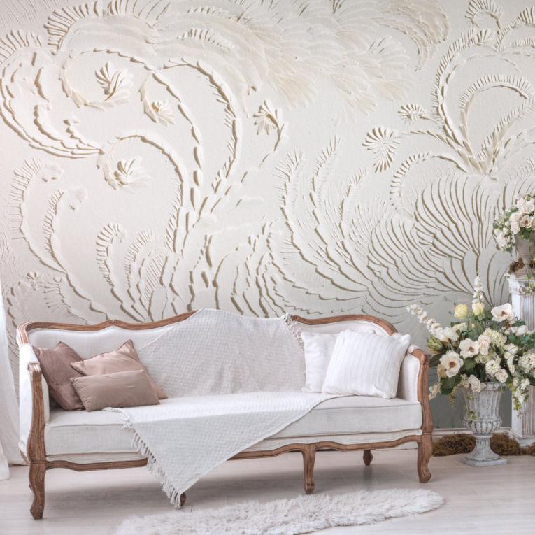Contemporary wallpaper linen vinyl floral db 1 baroque beauty by domitilla biondi