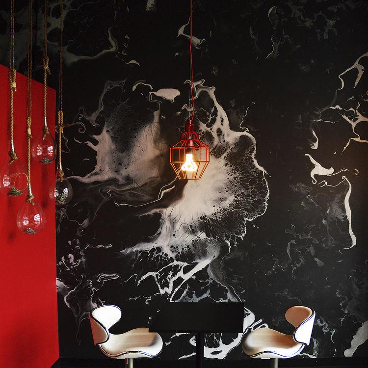 Contemporary Wallpaper Linen Vinyl Abstract Motif