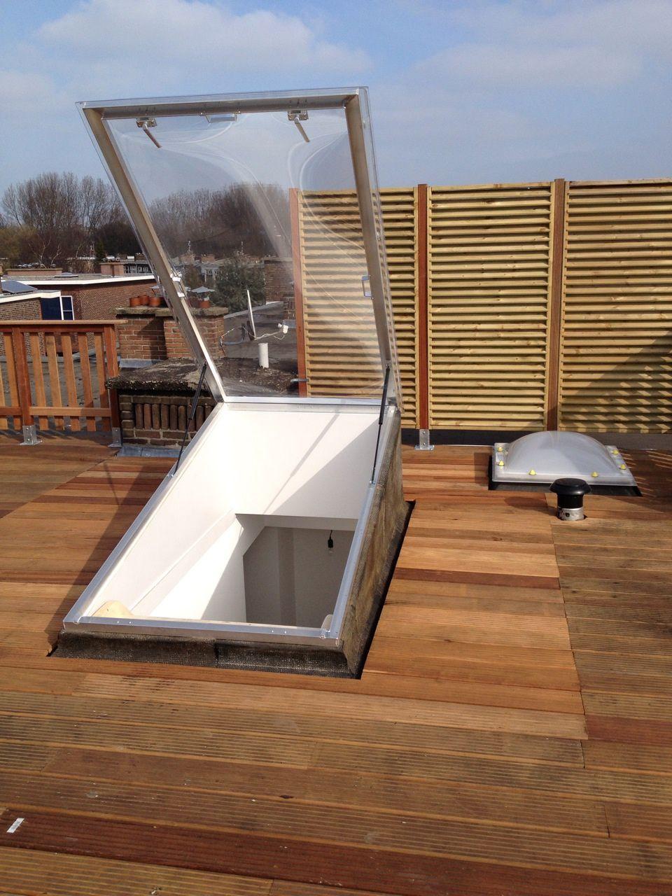 Wonderful Roof Hatch / Rectangular / Glazed / Metal MEGALUX  ROOF ACCESS Van Deudekom  Plastics BV ...