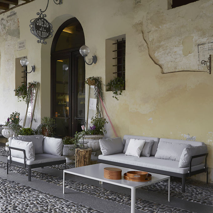 Contemporary Coffee Table Metal Rectangular Outdoor Minny By Luciano Bertoncini