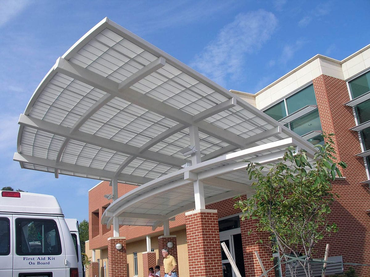 ... Canopy for commercial buildings / glass / metal / commercial Kalwall & Canopy for commercial buildings / glass / metal / commercial - Kalwall