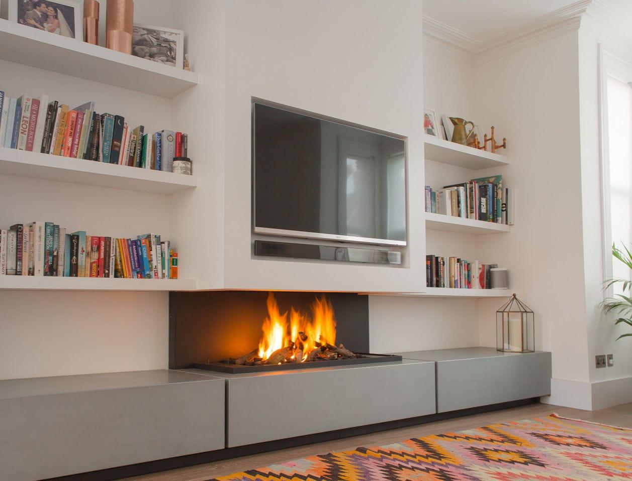 electric fireplace bioethanol gas contemporary 572 modus