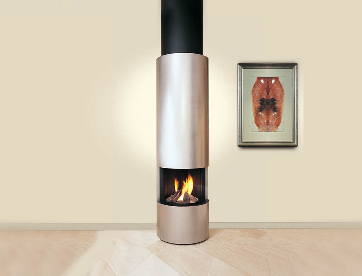 Gas Fireplace / Contemporary / Open Hearth / Free Standing 999 Modus  Fireplaces