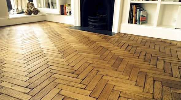 High Quality Solid Parquet Flooring / Oak / Oiled / Reclaimed   HERITAGE
