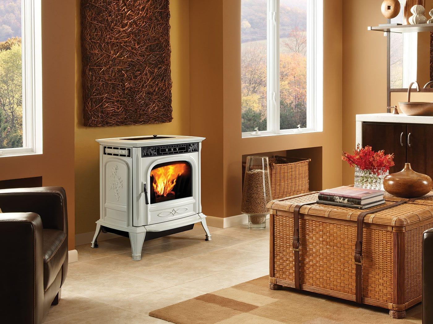 pellet heating stove traditional cast iron xxv harman